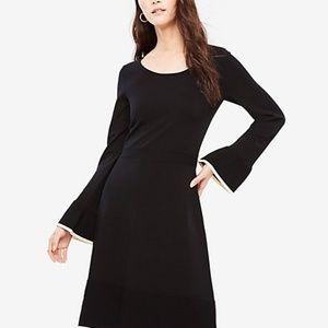 NWT Ann Taylor Ruffle Flare Sweater Dress